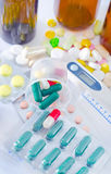 Color pills Royalty Free Stock Image