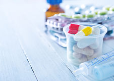 Color pills Royalty Free Stock Photography