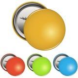Color Pin Button Badge Set en blanco Fotografía de archivo