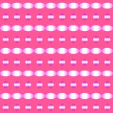 Abstract pattern of circle and ellipse shapes in gradient purple on dark pink background, similar to blurred metal surface. Vector. The color pink represents royalty free illustration