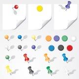 Color pins Stock Photos