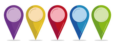 Color pins stock illustration