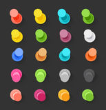 Color pins flat design collection. Vector elements clip-art Royalty Free Stock Image