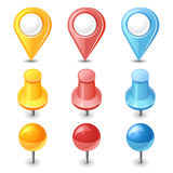Color pins and pointers Stock Images