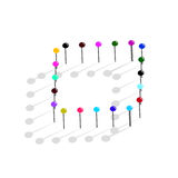 Color pins.Vector illustration Royalty Free Stock Photo