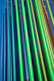Color pipes leaning left Stock Photos