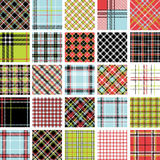 Color plaid patterns set Stock Photos