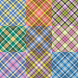 Color plaid patterns set Stock Image