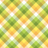 Color plaid tablecloths seamless fabric texture Stock Images