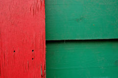 Color plank. On a house Royalty Free Stock Photo