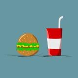 Color plano de los alimentos de preparación rápida Imagenes de archivo