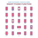 Color plano oscuro del teléfono del icono elegante de las funciones - PA del icono del vintage 25 stock de ilustración