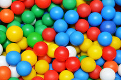 Color plastic balls Royalty Free Stock Image