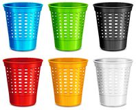 Color plastic basket Stock Image