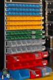 Color plastic bins Stock Image