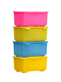 Color plastic boxes Royalty Free Stock Photo