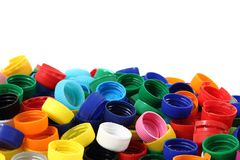 Color plastic caps Royalty Free Stock Photo