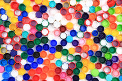 Color plastic caps Stock Image