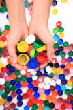 Color plastic caps Royalty Free Stock Photography