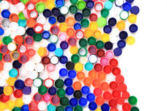 Color plastic caps Stock Photo