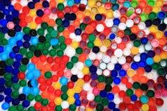 Color plastic caps Stock Image