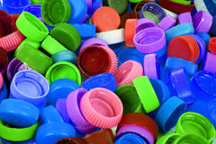 Color plastic caps background Stock Photography