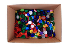 Color plastic caps background Stock Photos