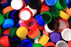 Color plastic caps background Royalty Free Stock Photos