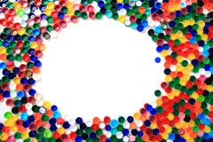 Color plastic caps from pet bottles Royalty Free Stock Photography