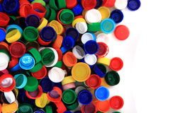 Color plastic caps (from PET) Royalty Free Stock Photos