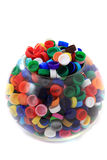 Color plastic caps (from PET) Stock Image