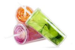 Color plastic cup Royalty Free Stock Photography