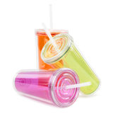 Color plastic cup Stock Image