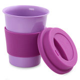 Color plastic cup Stock Photos