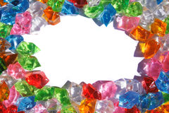 Color plastic diamonds Stock Images