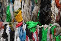 Color plastic garbage Stock Images