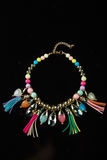 Color plastic necklace Stock Photography