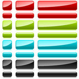 Color plastic rectangular buttons. For web design Stock Photography