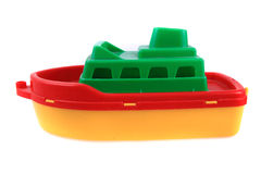 Color plastic ship toy Royalty Free Stock Photos