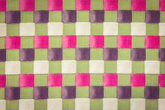 Color plastic weave texture and background Stock Images