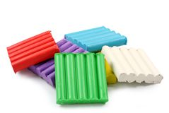 Color plasticine Royalty Free Stock Image