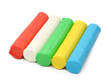 Color plasticine Royalty Free Stock Images