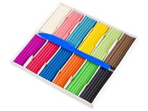 Color plasticine set Royalty Free Stock Photography
