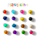 Color plasticine set on a white background. 3d Vector illustration. Color plasticine set on a white background. Modeling Clay balls. 3d Vector illustration stock illustration