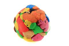 Color plasticine sphere Royalty Free Stock Photography