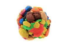 Color plasticine sphere Stock Photos