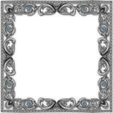 Color plata del capítulo con el topacio azul imagen de archivo