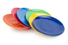 Color plates. On white background Stock Photos