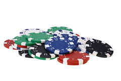 Color poker chips Stock Images