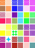 Color_polka_dot_patterns Royalty Free Stock Images